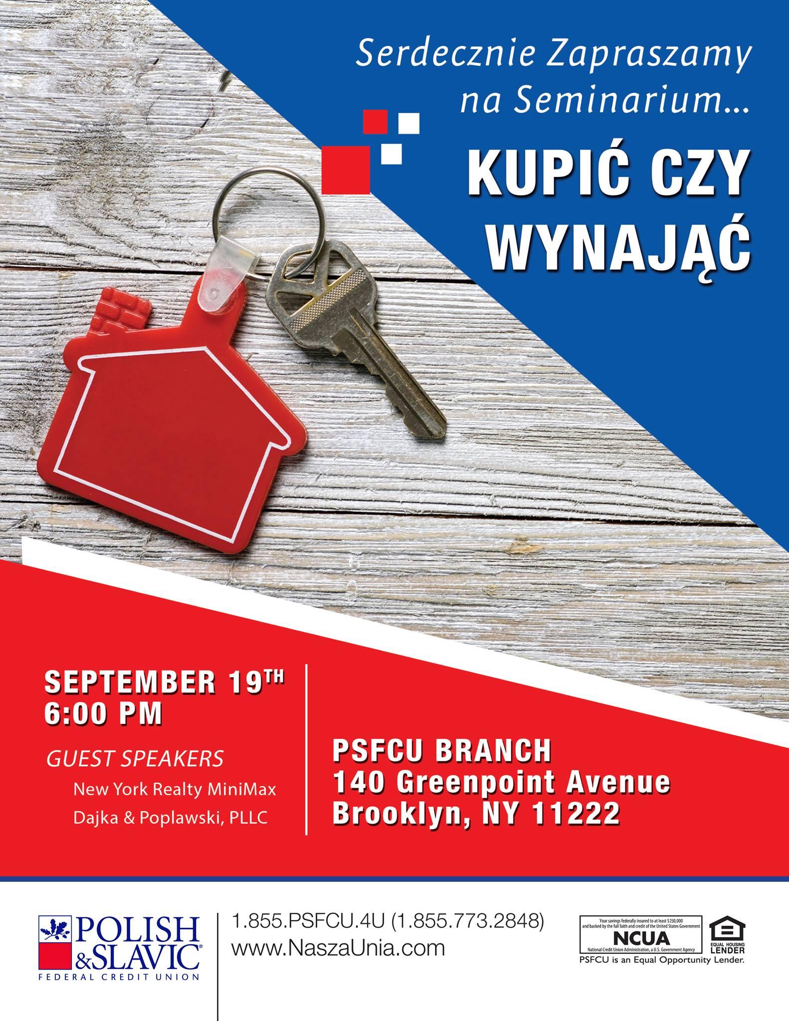 Adwokaci Dajka i Popławski w NY zapraszają na spotkanie na temat nieruchomości