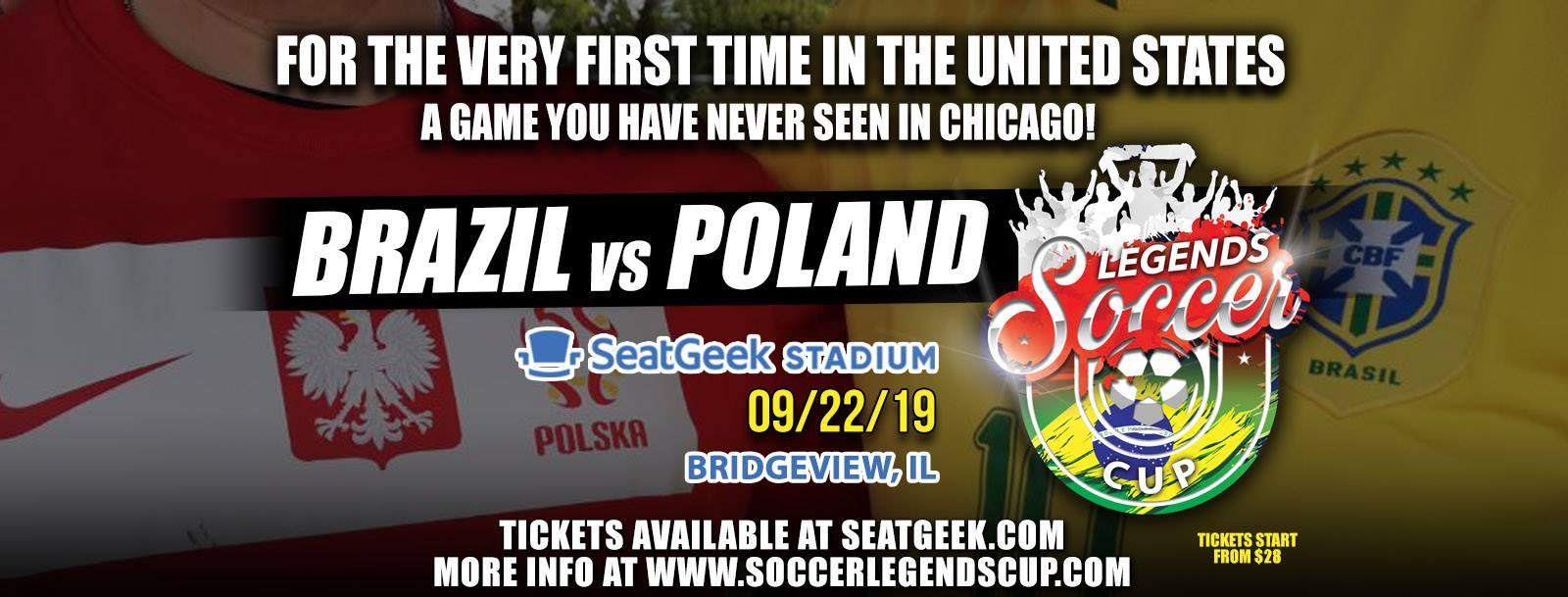 Brazylia vs Polska w Chicago - mecz legent piłki nożnej