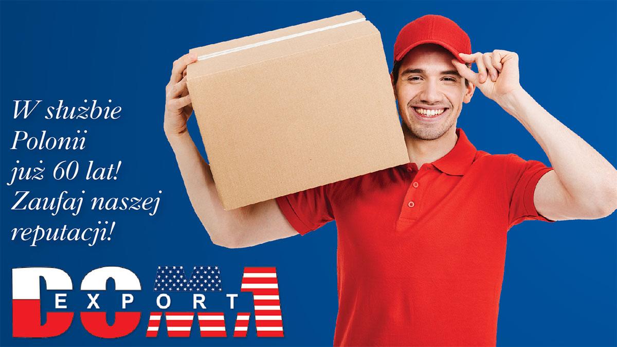 Wysyłka paczek i transport pojazdów do Polski z darmowym odbiorem w NY i NJ z Doma Export