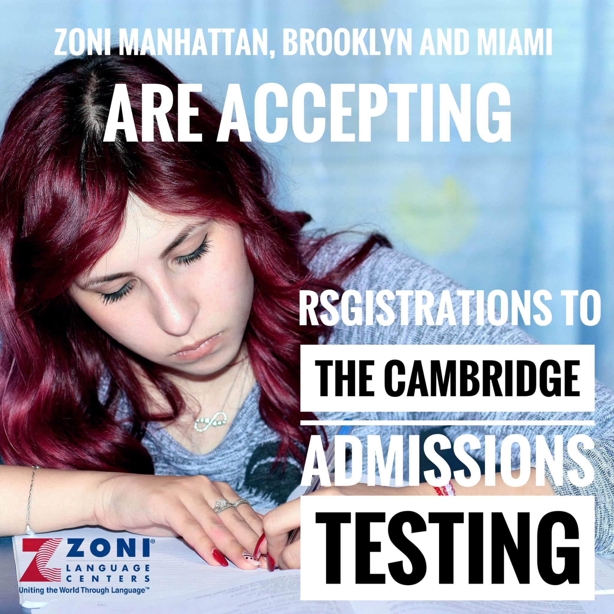The Cambridge Admissions Testing at Zoni in NY and FL