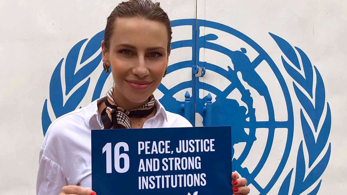 Princess Angelika Jarosławska Sapieha Calls for Peace & Children Rights on World Peace Day