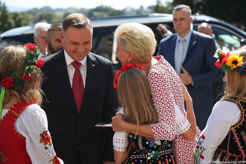 Prezydent Andrzej Duda z małżonką spotkali się z Polonią w New Britain