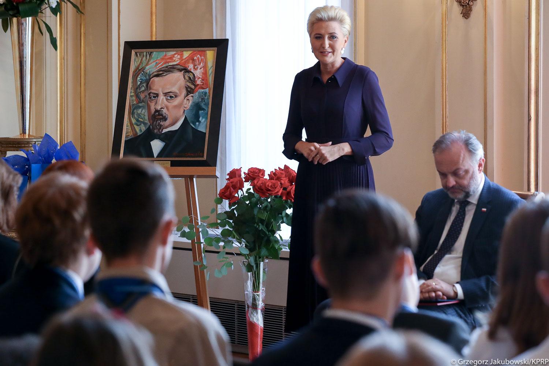Pierwsza Dama RP czytała w Nowym Jorku z polonijnymi uczniami i nauczycielami