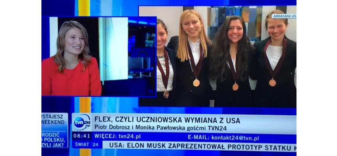 Absolwentka programu FLEX o pobycie w USA w polskiej TV