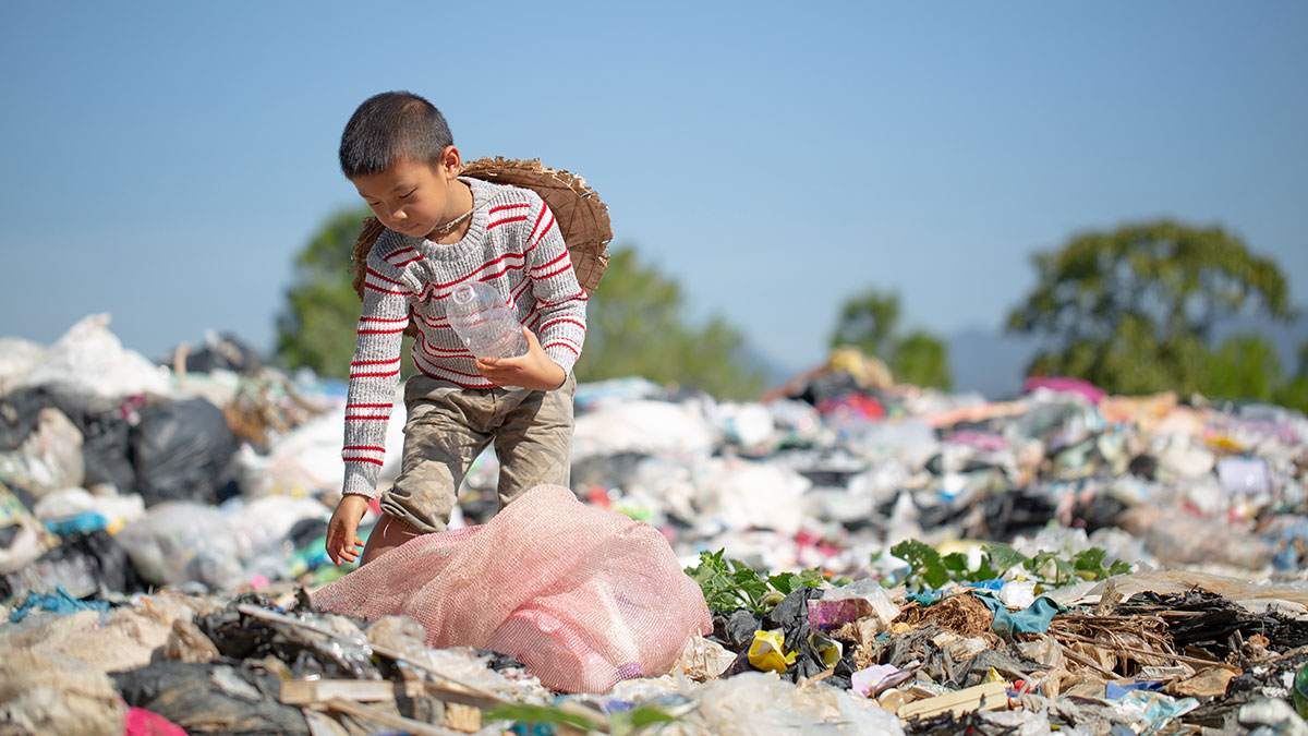 The moral crisis is getting worse. 420 million children are living in conflict zones.