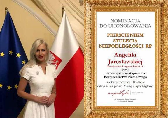 Princess Angelika Jarosławska Sapieha Received the Ring of the 100th Anniversary of Independence of the Republic of Poland