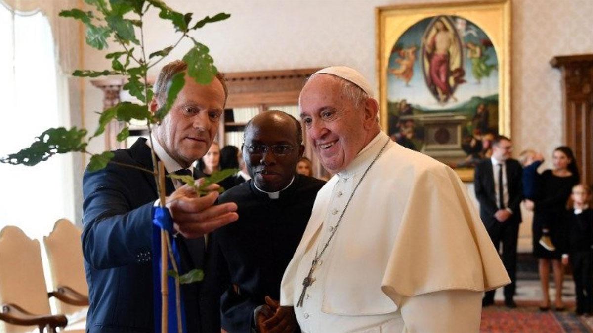 Papież Franciszek przyjął Donalda Tuska z rodziną