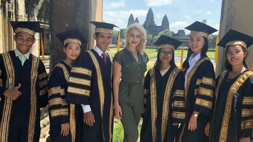 Princess Angelika Jarosławska Sapieha Sent the Message from Cambodia to the World