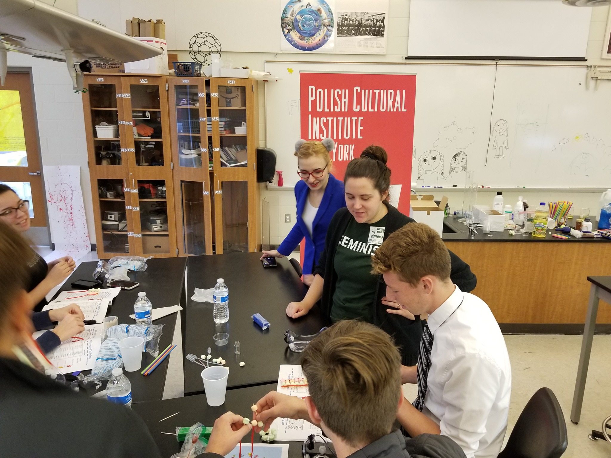 Fluffy Science Workshops about Famous Polish-American Scientists in NY, MI, LI