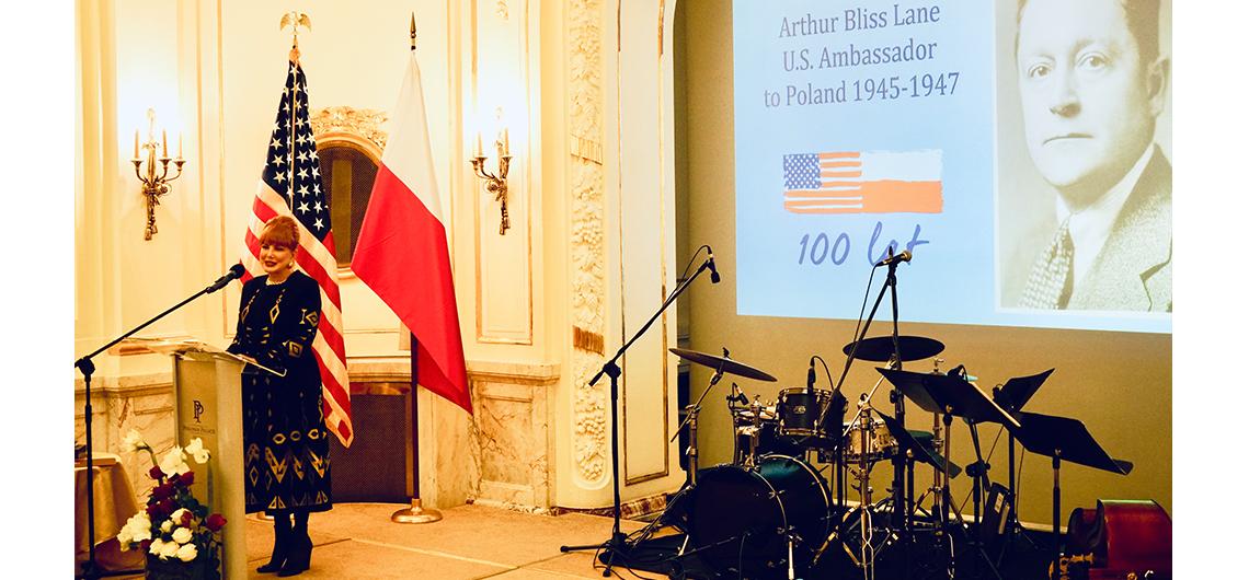 Polsko-amerykańska uroczystość w historycznym hotelu Polonia Palace