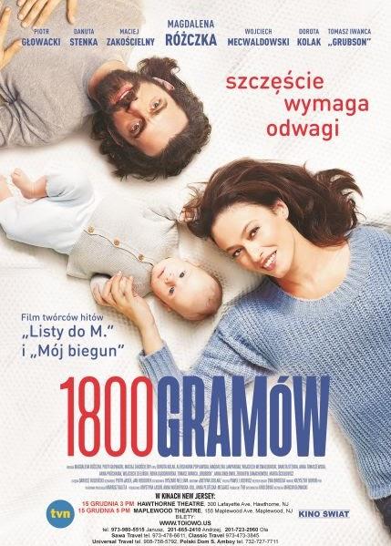Film świąteczny 1800 GRAMÓW w kinach w NJ, w Hawthorne i  Maplewood