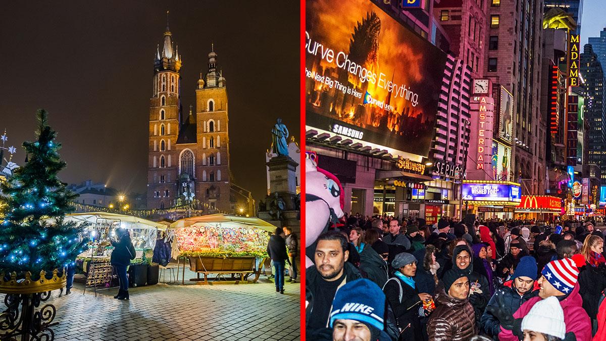 Boże Narodzenie w Polsce a na Sylwester przyleć do USA