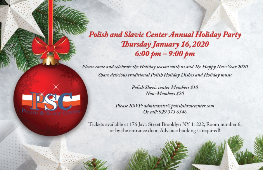 Holiday Party - Przyjęcie Świąteczne in New York at Polish and Slavic Center