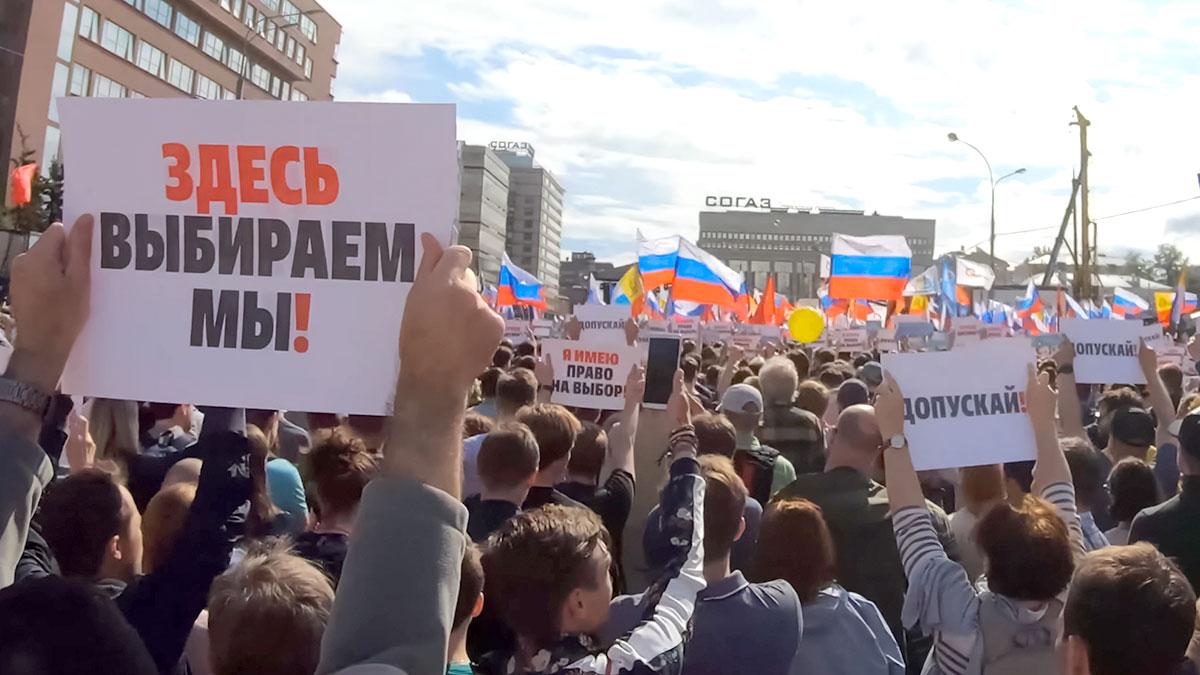 W Moskwie demonstracja przeciwko represjom i uzurpacji władzy