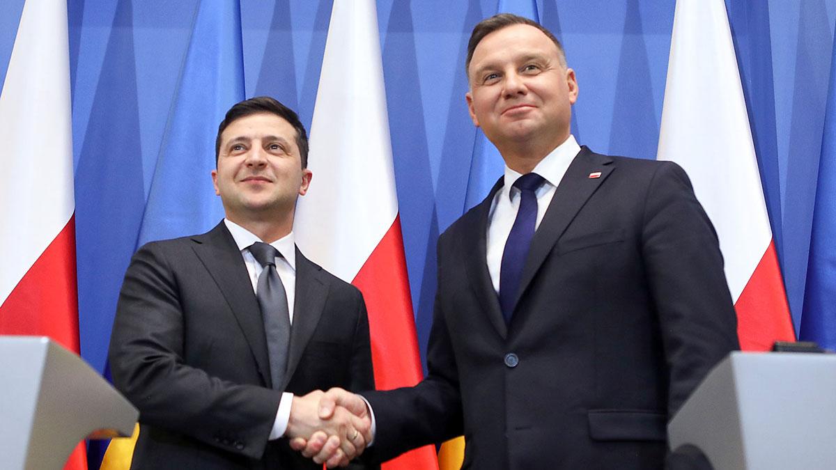 Prezydent Ukrainy Wołodymyr Zełenski w Polsce