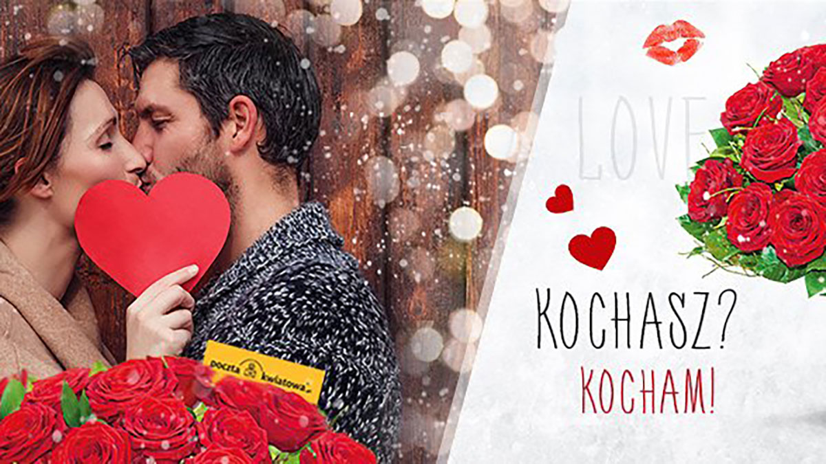 Na Walentynki do Polski kwiaty i prezenty z Poczty Kwiatowej