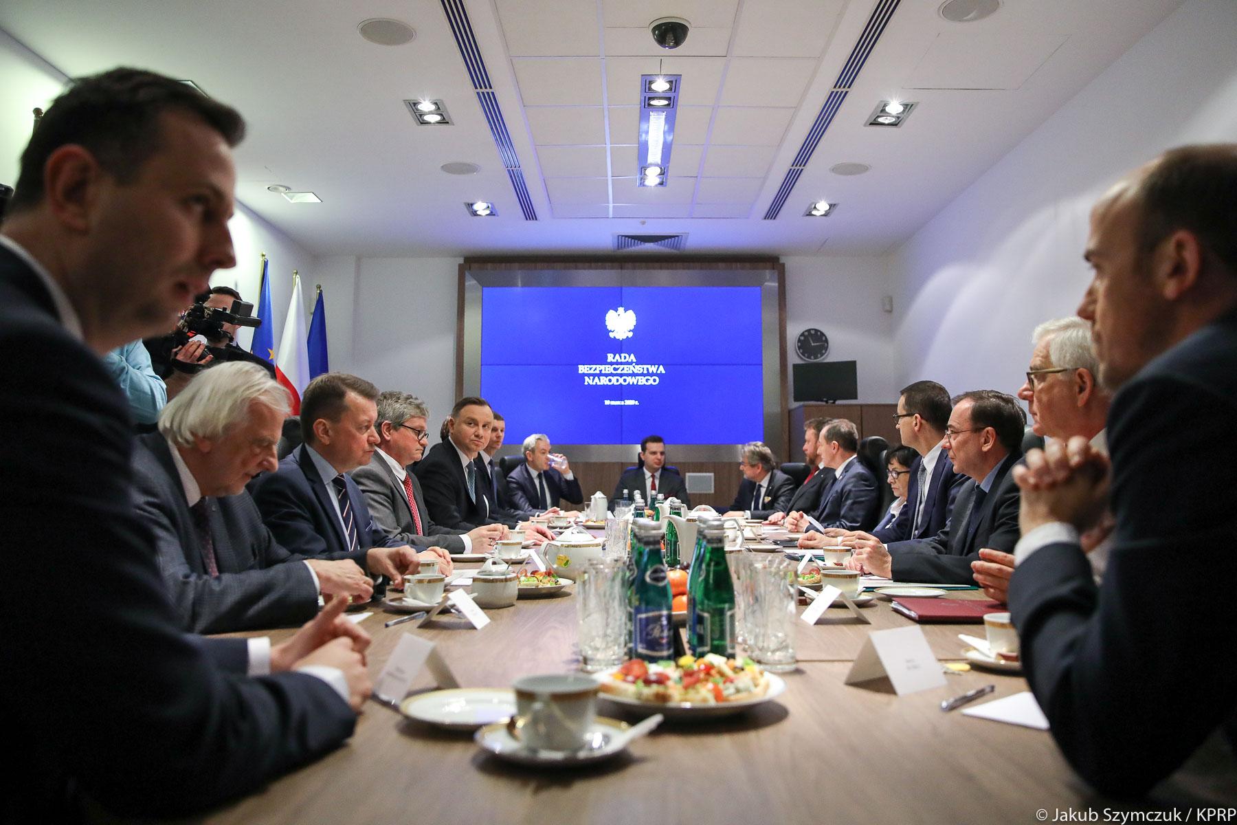 Działania w sprawie koronawirusa w Polsce omawiała Rada Bezpieczeństwa Narodowego