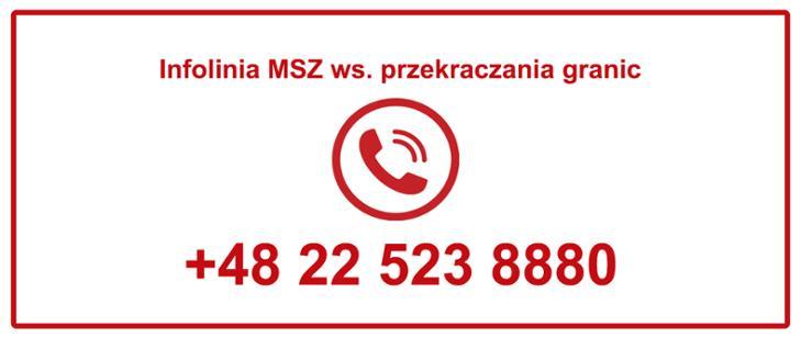 Infolinia dla Polaków, którzy chcą wrócić do kraju