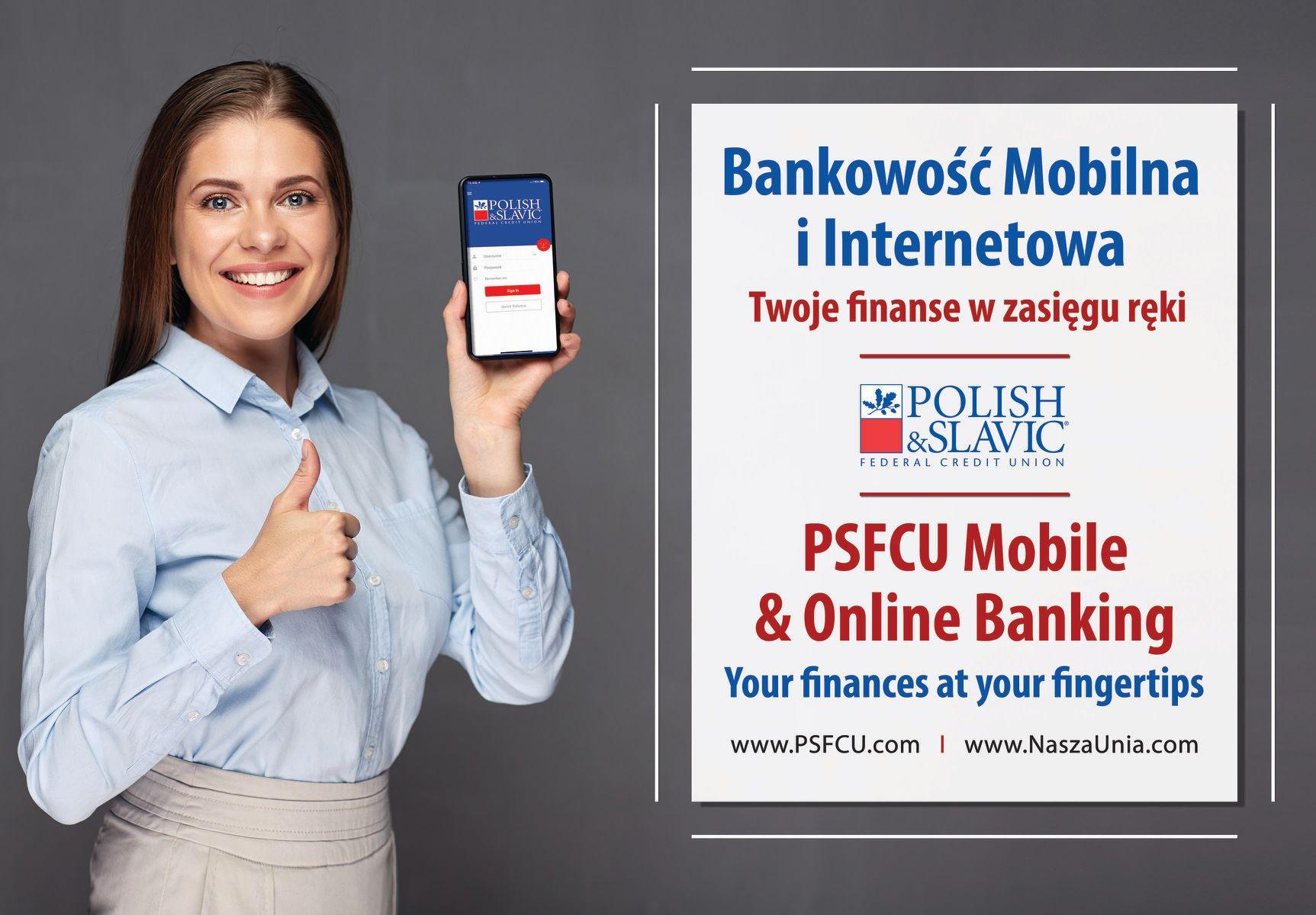 Nasza Unia zachęca do korzystania z aplikacji PSFCU Bankowość Mobilna