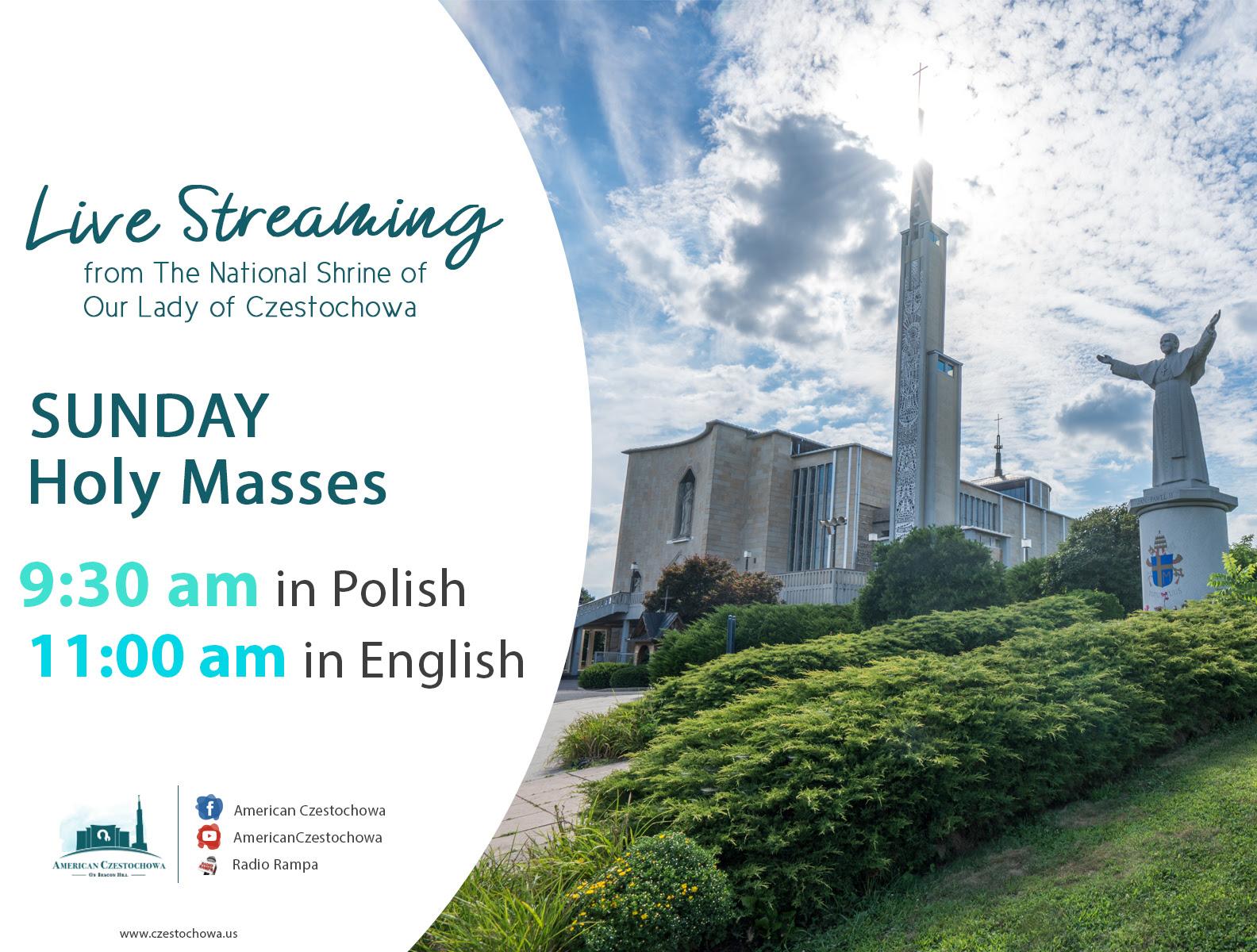Polskie Msze Święte w USA. Transmisje z Amerykańskiej Częstochowy