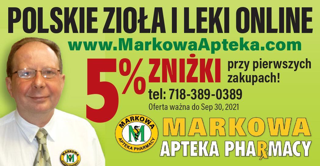 Polskie lekarstwa i zioła w USA z Apteki Markowej w NY