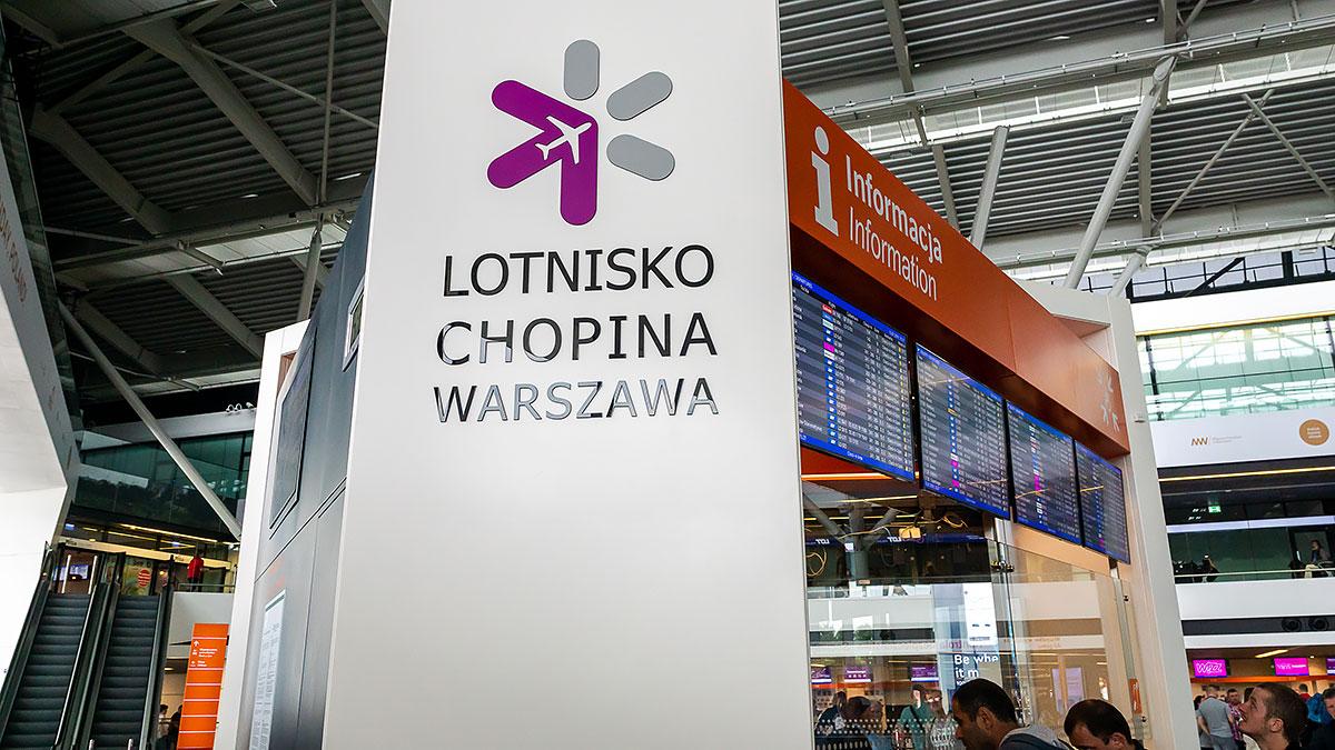 Lotnisko Chopina ma nowe zasady przemieszczania się po terminalu
