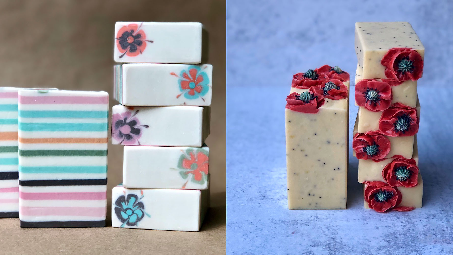Custom Soaps from MagiDo.  You can customize the scent, colors, and design of the soap