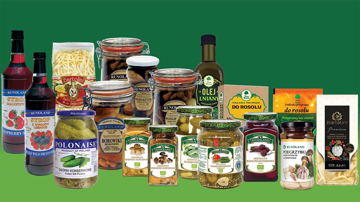 Specjały, przetwory, naturalne produkty z Polski w USA z Runoland