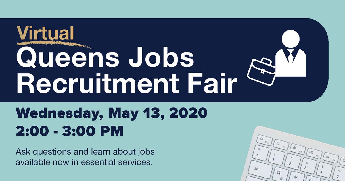 The May 13th Virtual Queens Jobs Recruitment Fair