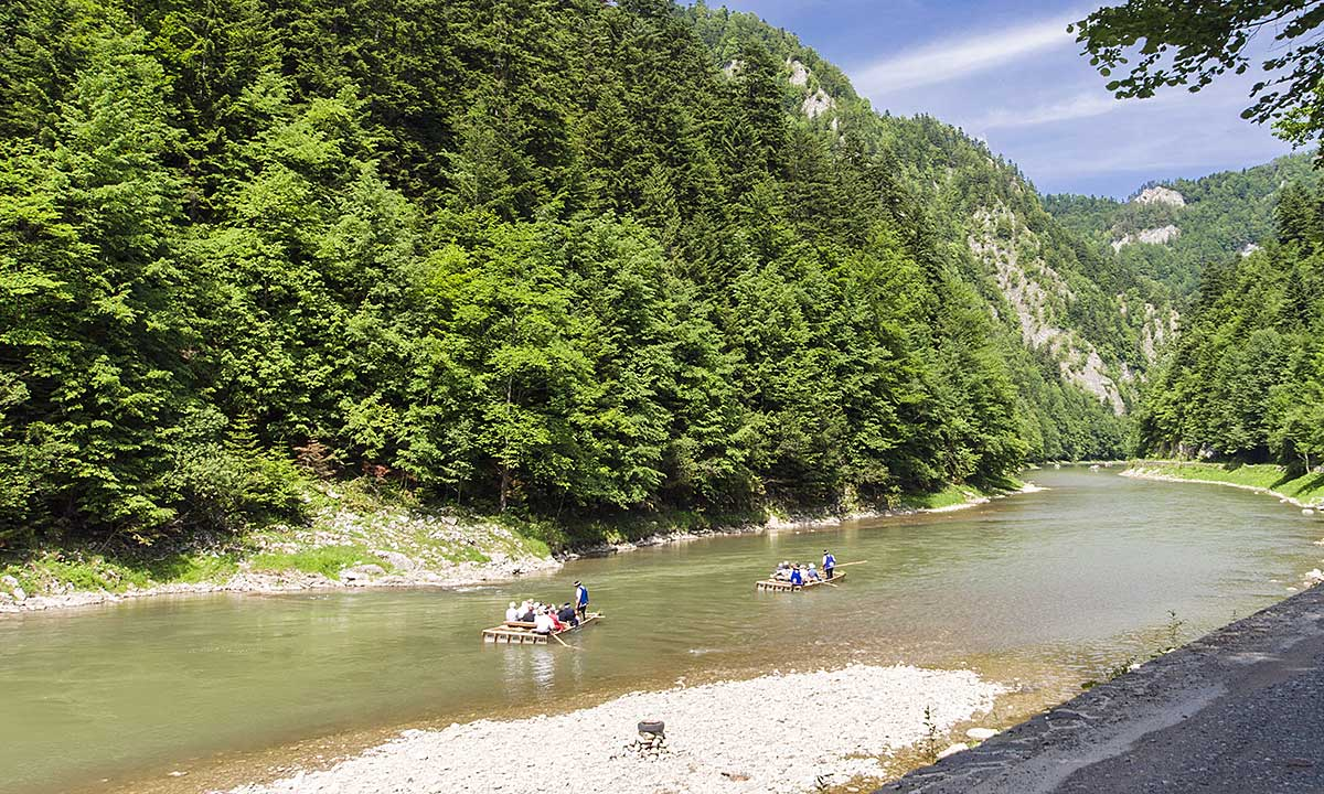 Słaby początek spływu Dunajcem