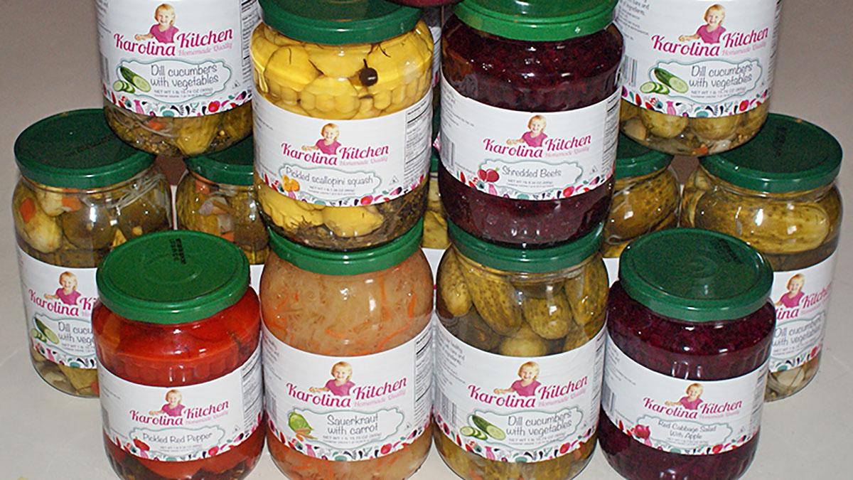 Polska żywność i produkty spożywcze w USA z Ryszard Food Distributor. Polecamy przetwory Karolina Kitchen