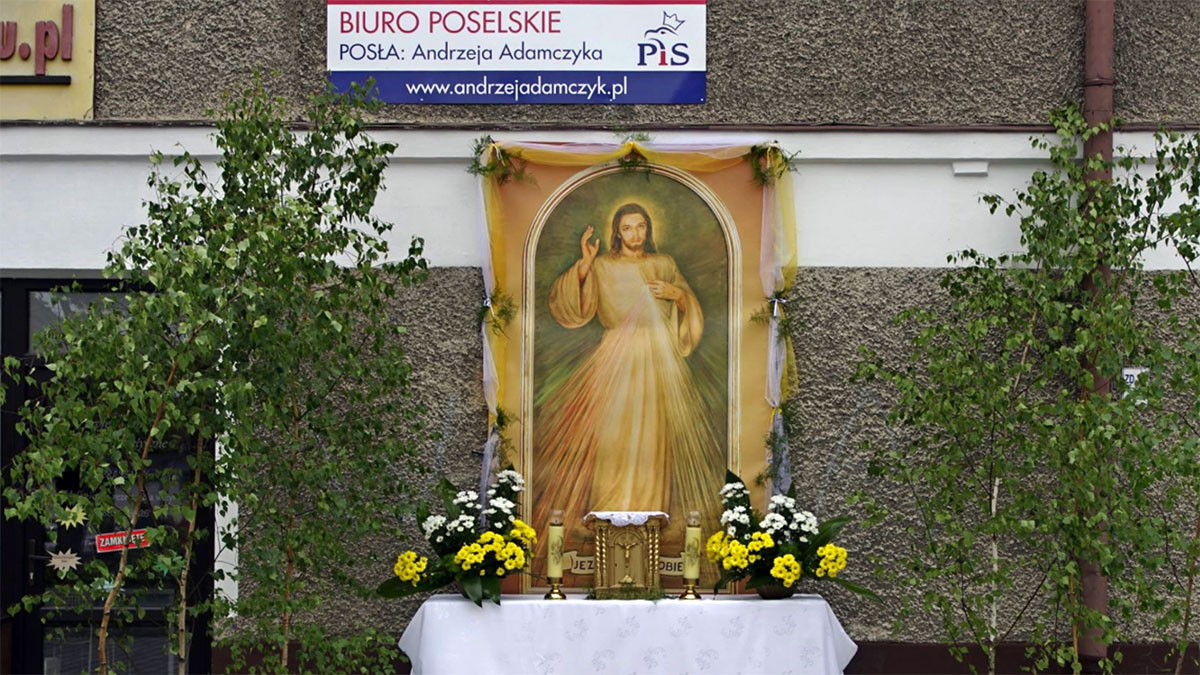 Polski prezydent i minister ponad Chrystusem