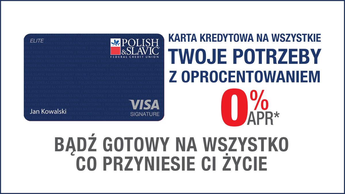 Karta kredytowa PSFCU z oprocentowaniem 0.00% APR*