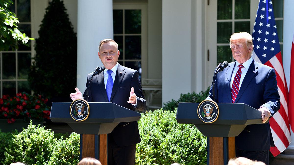 Tematy rozmowy Andrzeja Dudy z Donaldem Trumpem