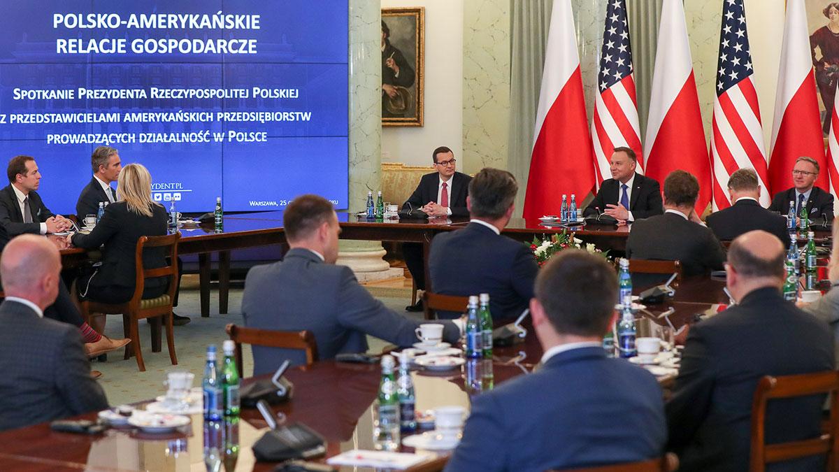 Andrzej Duda spotkał się z przedstawicielami amerykańskich firm