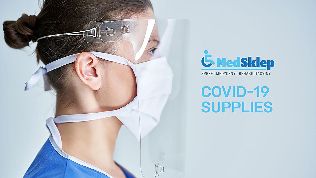 COVID-19 artykuły, materiały, sprzęt medyczny, do rehabilitacji w USA i do Polski z Med Sklep