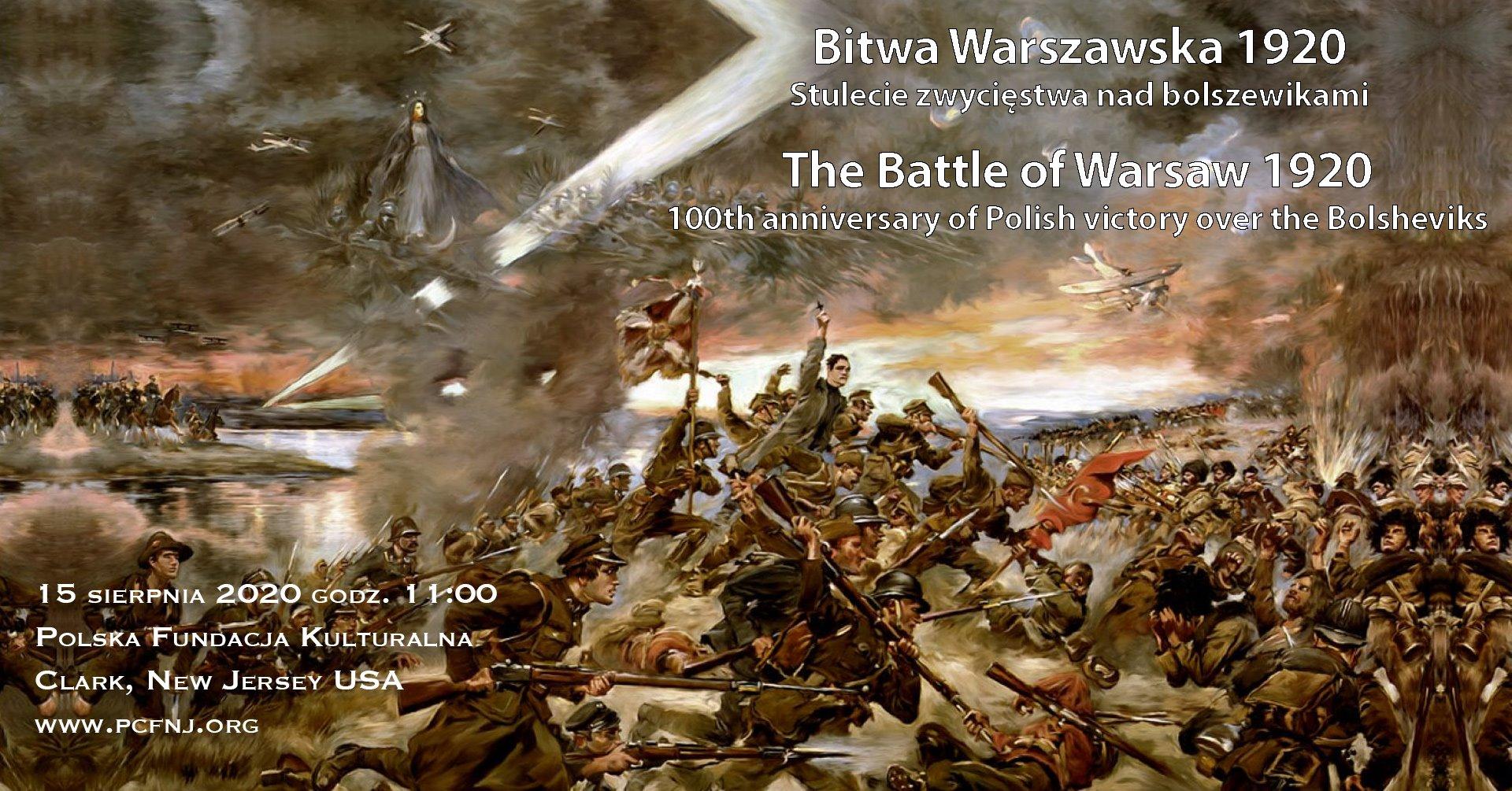 """Otwarcie wystawy plenerowej """"Wojna z bolszewikami. Bitwa warszawska 1920"""" w Clark, NJ"""