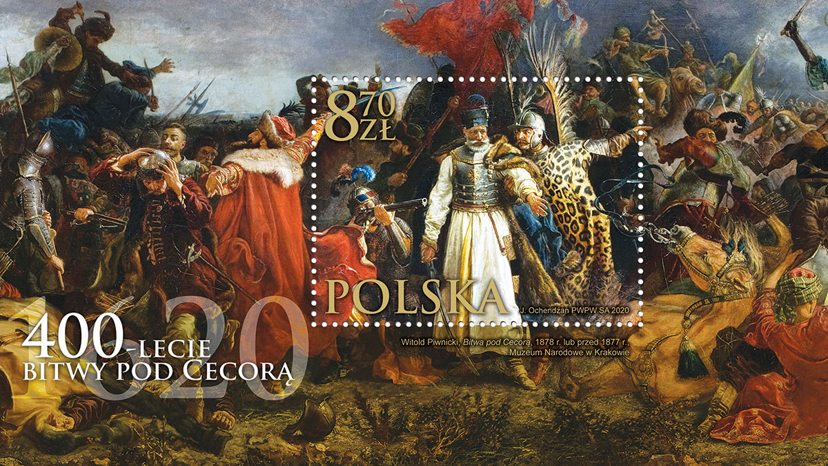 Poczta Polska: znaczek upamiętniający rocznicę bitwy pod Cecorą