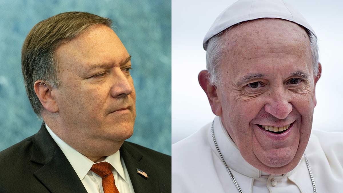 Papież odmówił przyjęcia Mike'a Pompeo, wysłannika Trumpa