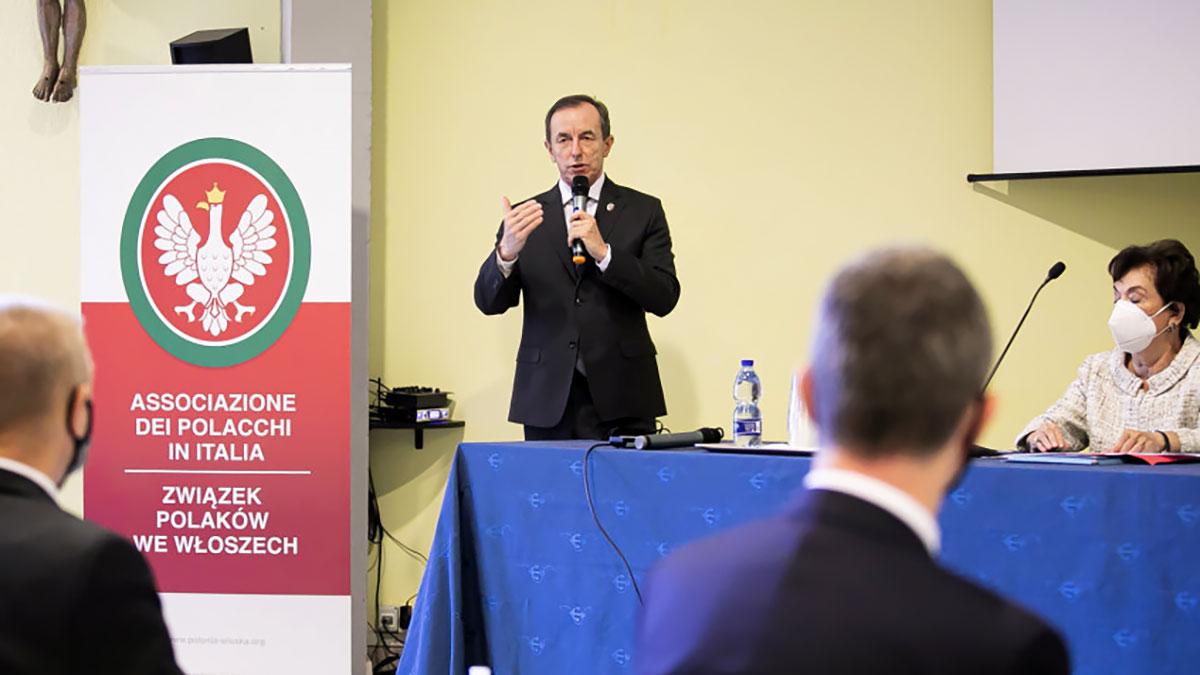 Marszałek Senatu RP wraz z delegacją na  Zjeździe Związku Polaków we Włoszech
