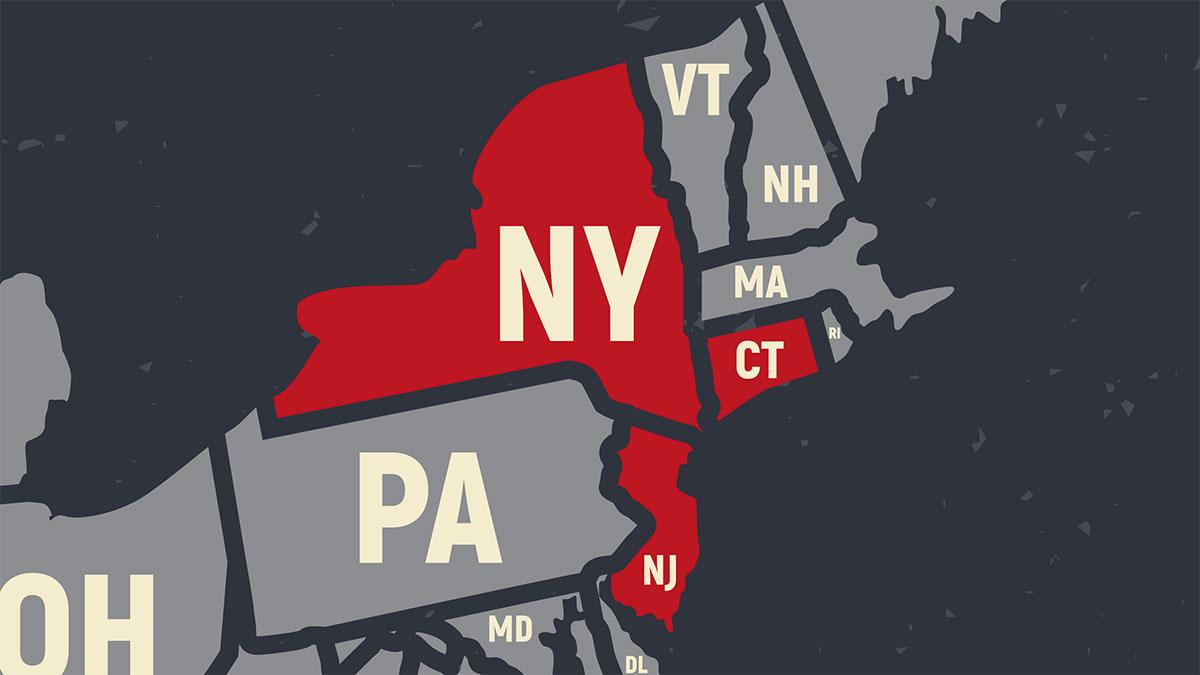 Oświadczenie gubernatorów NY, NJ i CT dotyczące COVID-19 i podróży między stanami