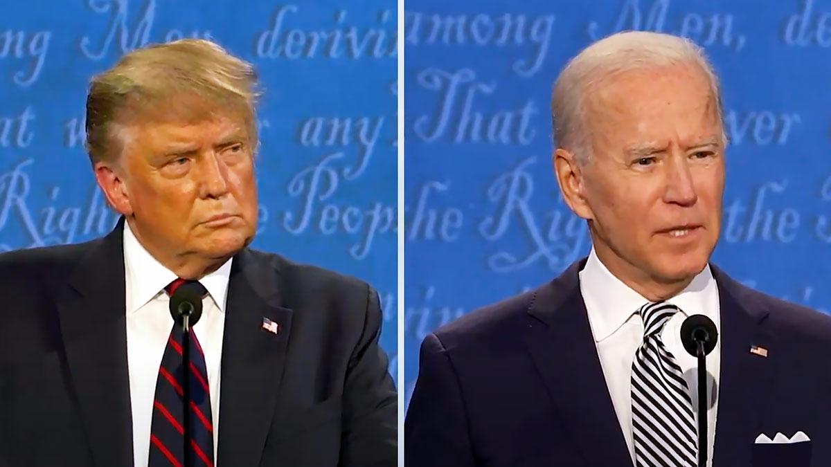Ostatnia debata prezydencka Trumpa i Bidena za nami...