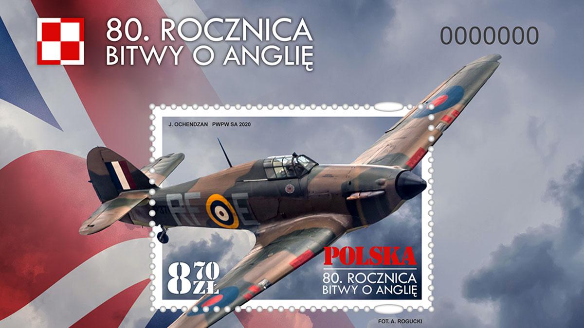 Wyjątkowe znaczki upamiętniające słynną Bitwę o Anglię oraz Armię gen. Władysława Andersa