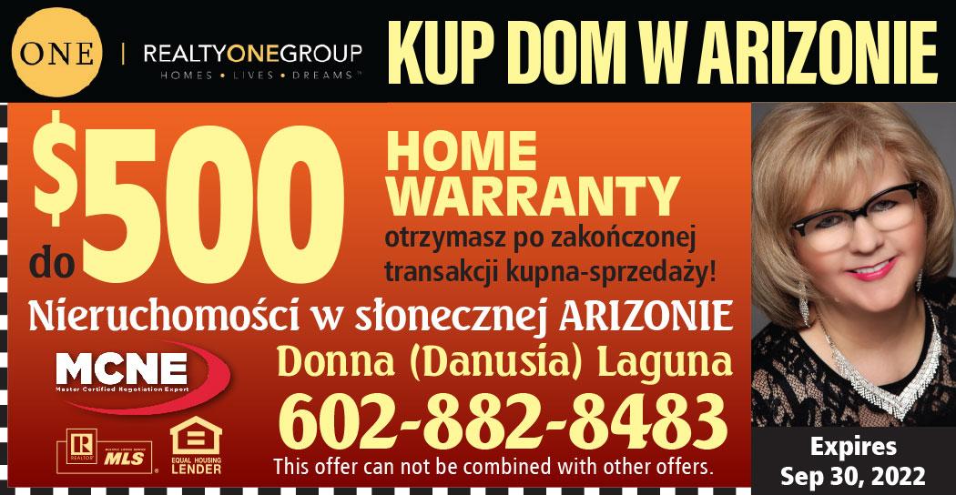 Nieruchomości, domy i mieszkania, w Arizonie na sprzedaż i wynajem - ma polski agent w AZ, Danusia Laguna