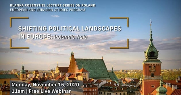 "Lecture: ""Shifting Political Landscapes in Europe: Poland's Role"""
