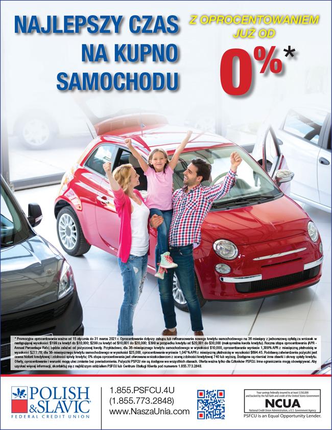Pożyczka na samochód w USA z oprocentowaniem już od 0% z PSFCU