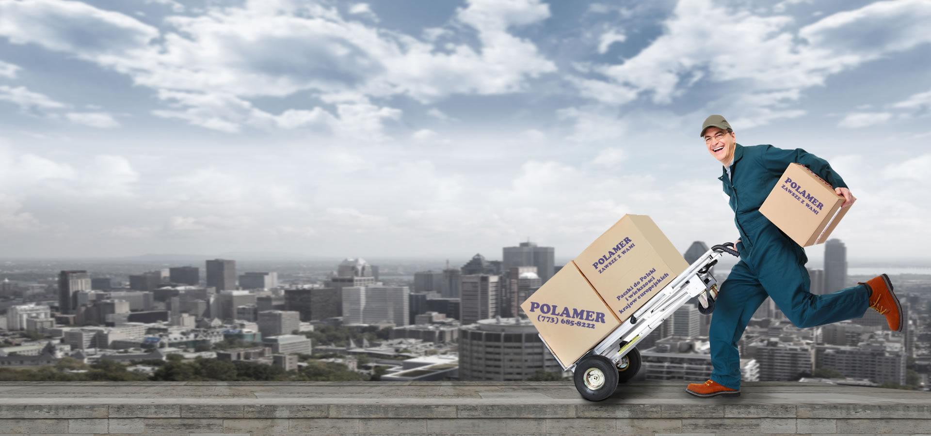Bilety lotnicze, paczki i kontenery do Polski z USA, z agencji Polamer