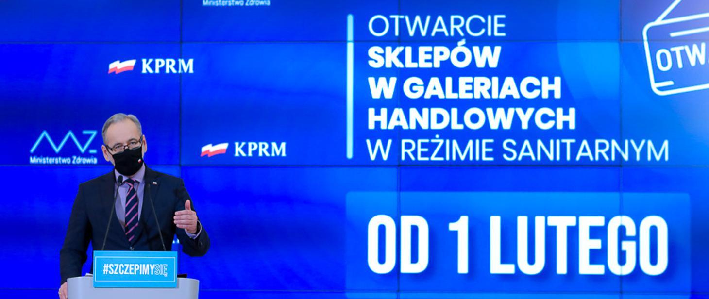 Zmiany w ograniczeniach i zasadach bezpieczeństwa w Polsce od 1 lutego