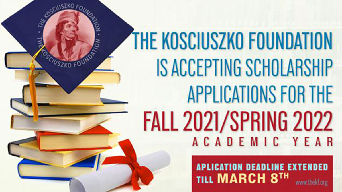 The Kosciuszko Foundation is Accepting Scholarship Applications