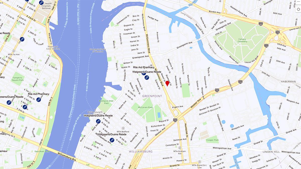 Wyszukiwarka lokalizacji, gdzie możesz się zaszczepić przeciw COVID-19 w NYC